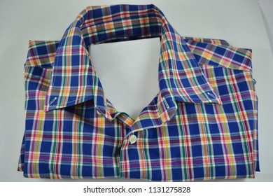 Checked shirt on a white background