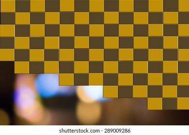 Checkerboard pattern Background blur