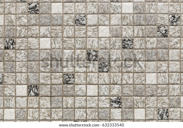 Checkered ceramic 1980's style tiles on the floor of granny's bathroom, in the town of Malmsheim, near Stuttgart, Germany.