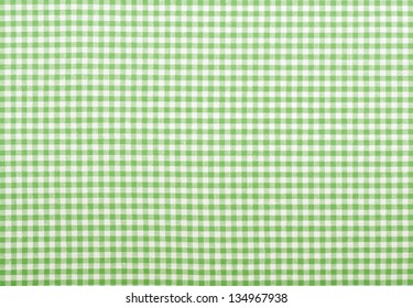 Checkered fabric closeup - series - green. Good for background.