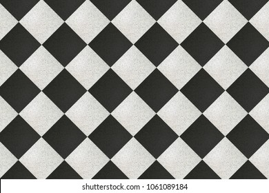 checkered floor tiles, black and white background, texture