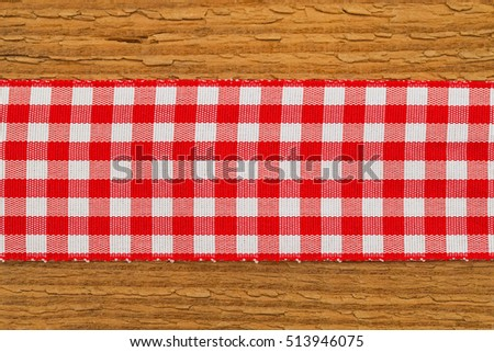 Checkered Red White Table Runners On Stock Photo Edit Now