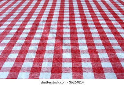 Checkered tablecloth for background