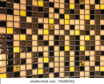 A checkered tile pattern of different colors