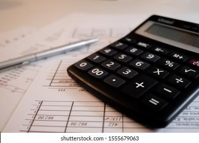 checking balance sheet on a calculator