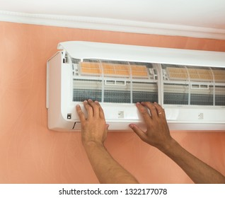 Checking filter in the air-conditioner. Cleaning air conditioner filter