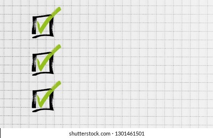 Checklist on notepad concept.
