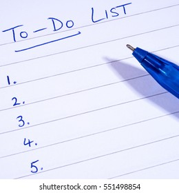 A checklist for things To-Do.