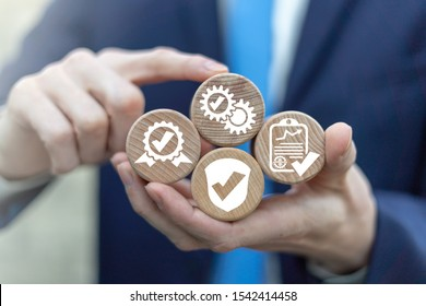 Checkmarks Ticks Quality Control Approve Compliance Business Concept. Check Mark Success Assurance Certificate.