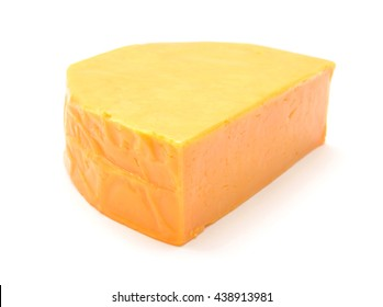 cheddar cheese isolated on white background