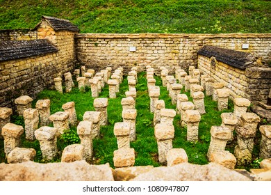Chedworth Roman Villa is a Roman villa located near Chedworth, Gloucestershire, England. It is one of the largest Roman villas in Britain.