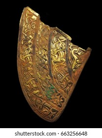 Cheek Piece Staffordshire Hoard, largest hoard of Anglo-Saxon gold ever found