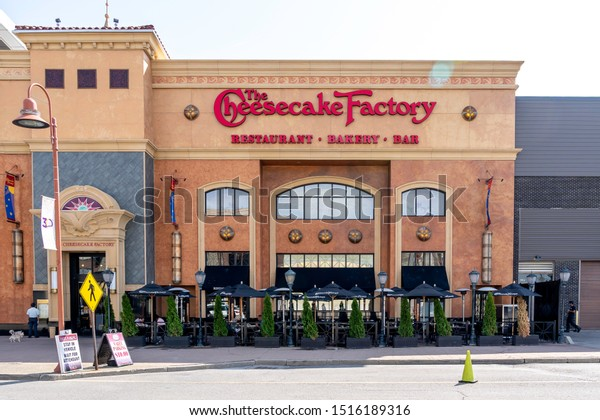 Cheektowaga, New York, USA - September 22, 2019: A Cheesecake Factory restaurant in Cheektowaga, New York, USA. Cheesecake Factory is an American chain restaurant offering cheesecake.