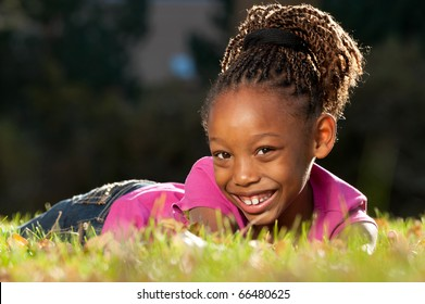Cheerful  African American Child