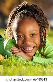 Cheerful Afro Child