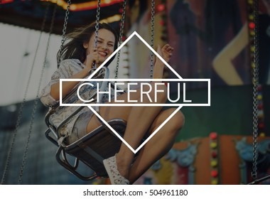 Cheerful Amusement Park Carnival A Wonderful Life Concept