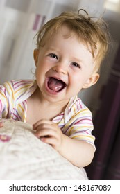 Cheerful baby laughing