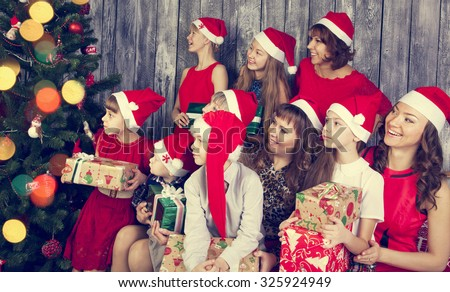 Cheerful Big Family Gifts Next Christmas Stock Photo (Edit Now ...