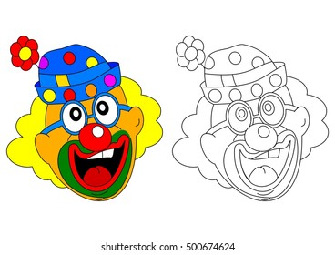 Cheerful clown like coloring books for small children