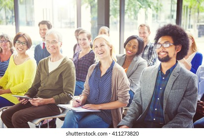 Cheerful and Diverse People Listening