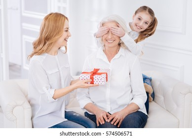 Grand Mère Cadeau Enfant Images Stock Photos Vectors