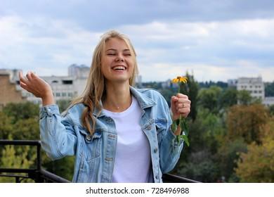 Cheerful girl.