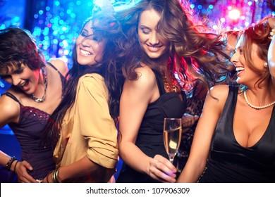 Dance floor sex club girls vertical