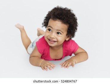 Cheerful Kid Have Fun Smiling Concept