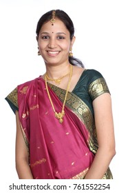 Cheerful traditional Indian woman