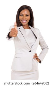 cheerful young african business executive giving thumb up