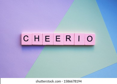 Cheerio word on colorful background