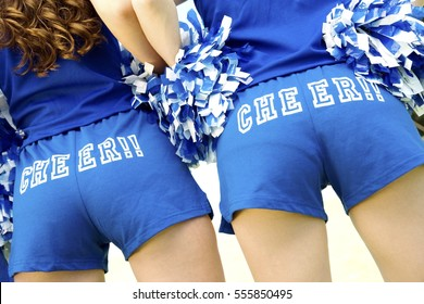 """""""Cheerleaders Wearing """"""""Cheer!!"""""""" Hotpants"""""""