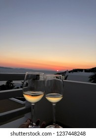 Cheers to a magical sunset in Mykonos