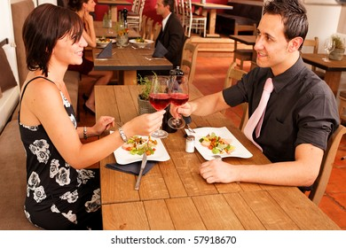 cheers nice appetizer for two in a restaurant