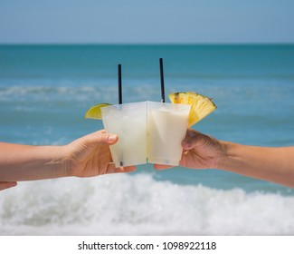 Cheers on vacation at the beach