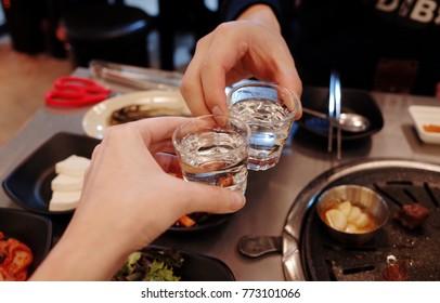 CHEERS SOJU , KOREA ALCHOLIC DRINK , HOLIDAY