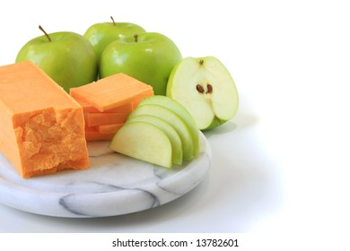 Cheese and apple snack.
