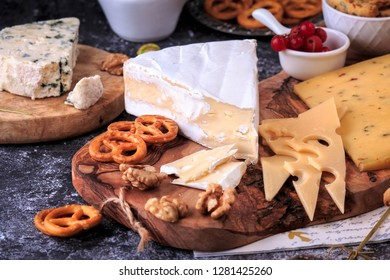 Cheese Board. Cheese and Cracker variety board.
