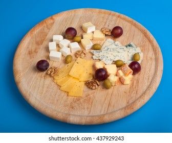 cheese board with delicous cheeses