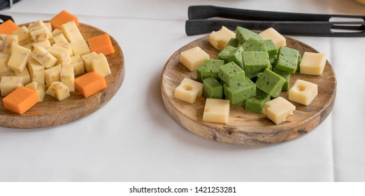 Cheese buffet served at the celebration of a wedding in Valencia, Spain.