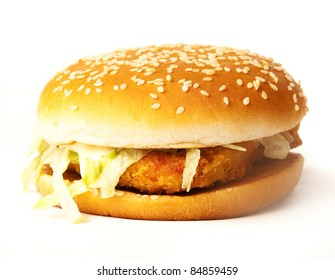 cheese burger isolated on a white background