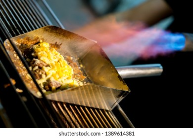 Cheese Burnt Steak in Taiwanese Night Market