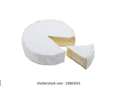 cheese camembert insulated on white