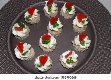 Cheese Canapes - Shutterstock ID 588990869