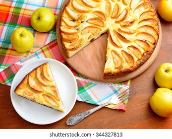 Ã??ottage cheese casserole with apples.