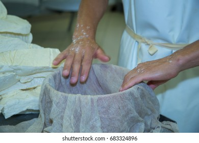 cheese castelmagno production in cheese factories in val grama castelmagno cuneo italy