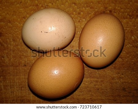 Cheese Chicken Eggs On Wooden Board Stock Photo Edit Now 723710617