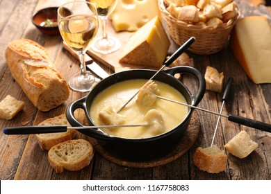 cheese fondue and bread