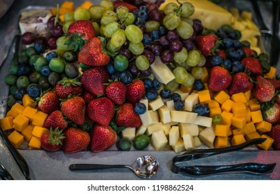 Cheese and Fruit Hors D'doeuvre from top