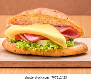 Cheese Ham Roll Showing Freshness Healthy And Rolls